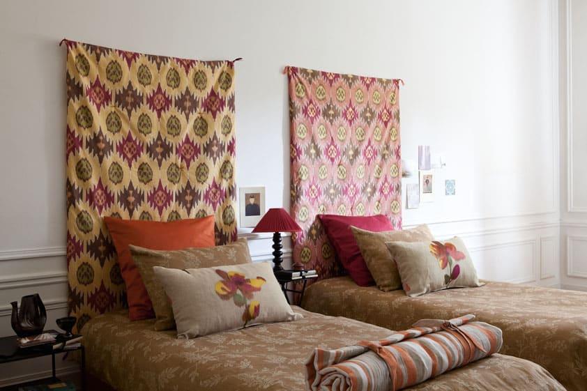 Etofea Tte de lit tissu  Jets et tte de lit sur mesure Paris