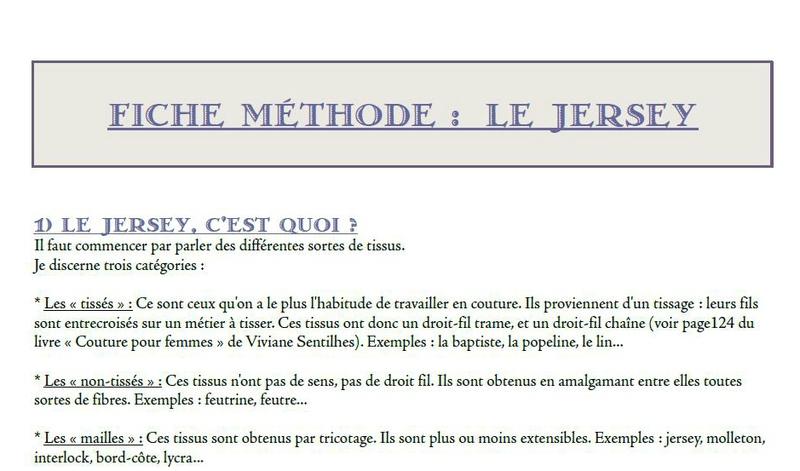Fiche Méthode : le Jersey