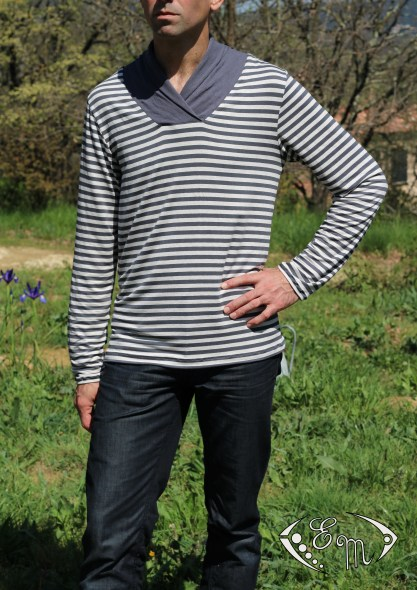aconit sous pull col marin jersey patron couture