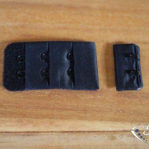Agrafe soutien-gorge noire 2 crochets
