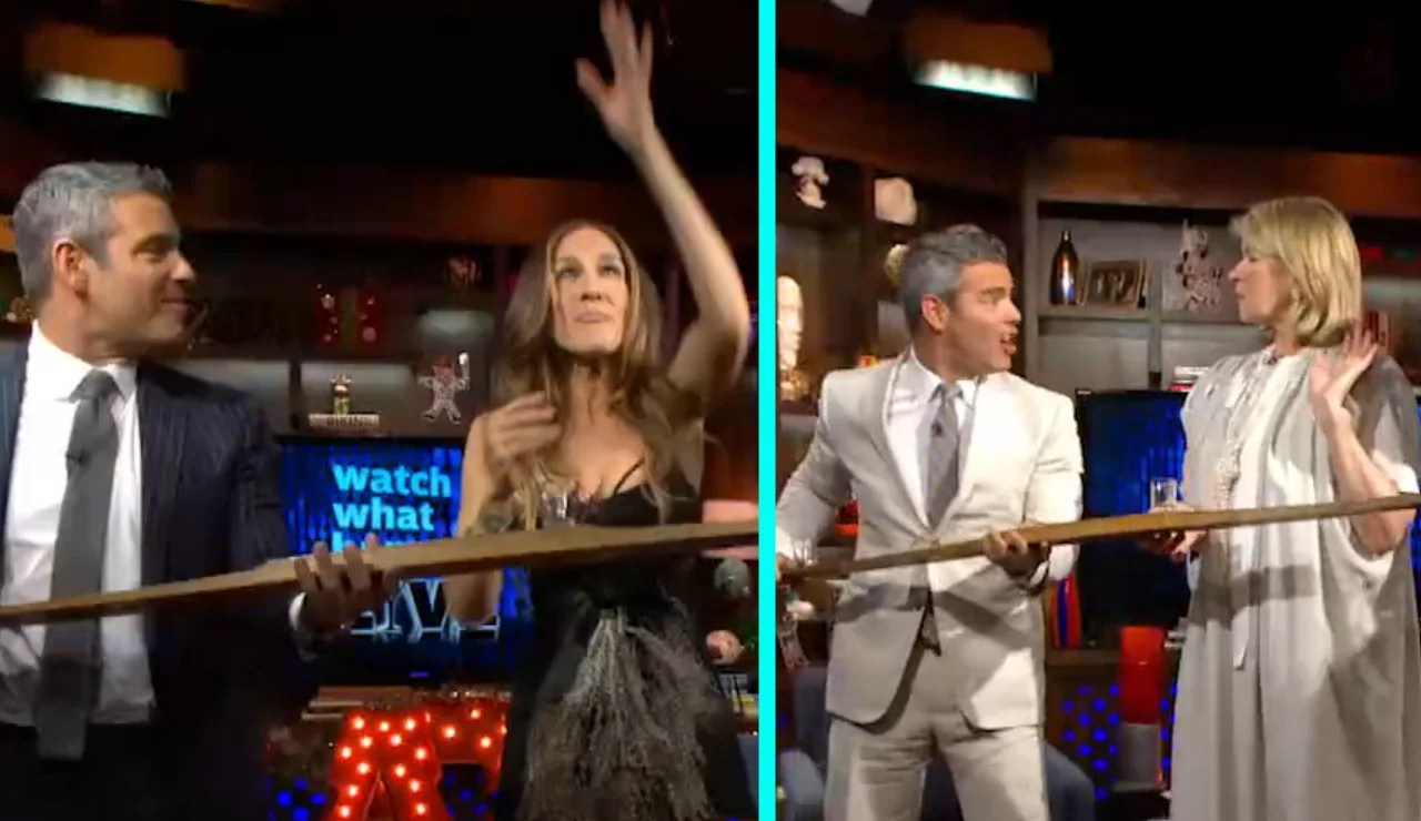 EXCLUSIVE: Celebrate 1.000 Episodes of 'Watch What Happens Live' By Reliving the Most Memorable Shotski Moment   Entertainment Tonight