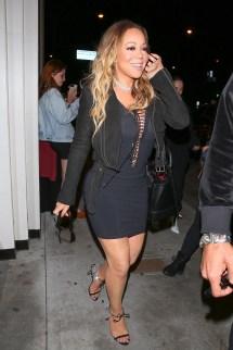 Mariah Carey Braless In Sheer Lace- Dress