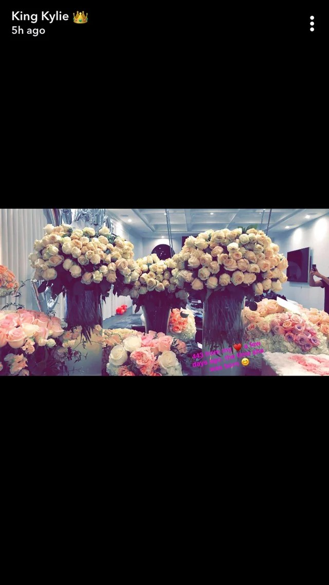 Kylie Jenner Is Showered With Flowers From Her Family And