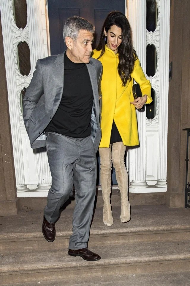 George and Amal Clooney Step Out for Stylish Date Night in