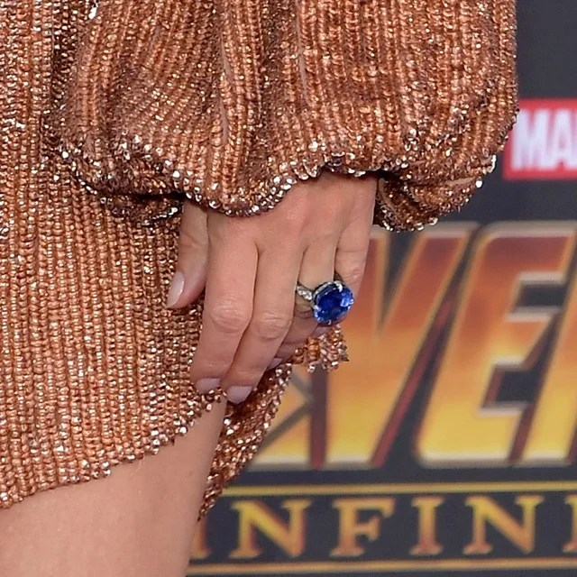 Gwyneth Paltrow Flashes Engagement Ring and a Lot of Leg at Avengers Premiere  Entertainment