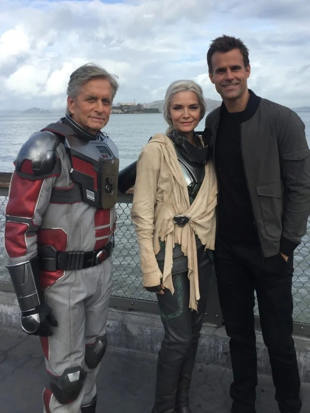 Michael Douglas and Michelle Pfeiffer Supersuit Up on the Set of AntMan and the Wasp