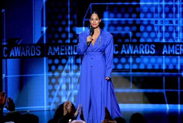 Tracee Ellis Ross blue dress AMAs