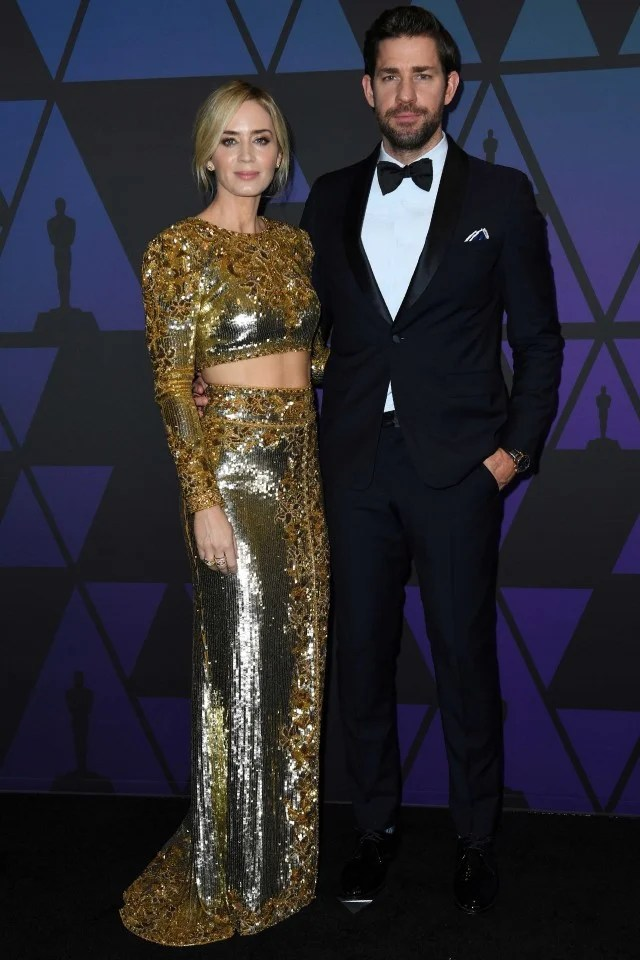 Emily Blunt and John Krasinski at the 10th Annual Governors Awards gala in Hollywood on Nov. 18