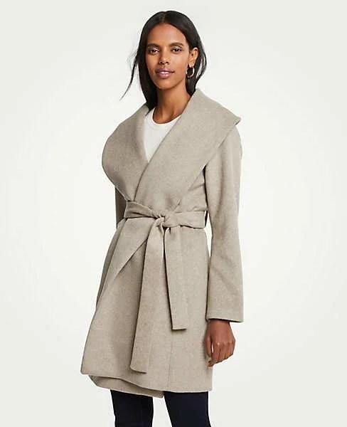 Ann Taylor shawl wrap coat