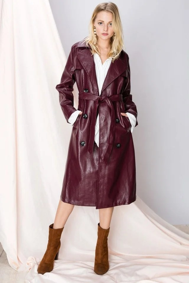 Storets burgundy coat