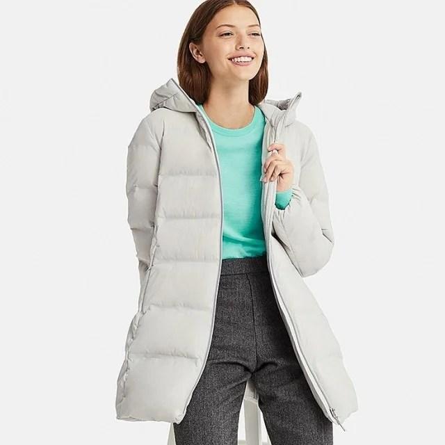 Uniqlo gray puffer coat
