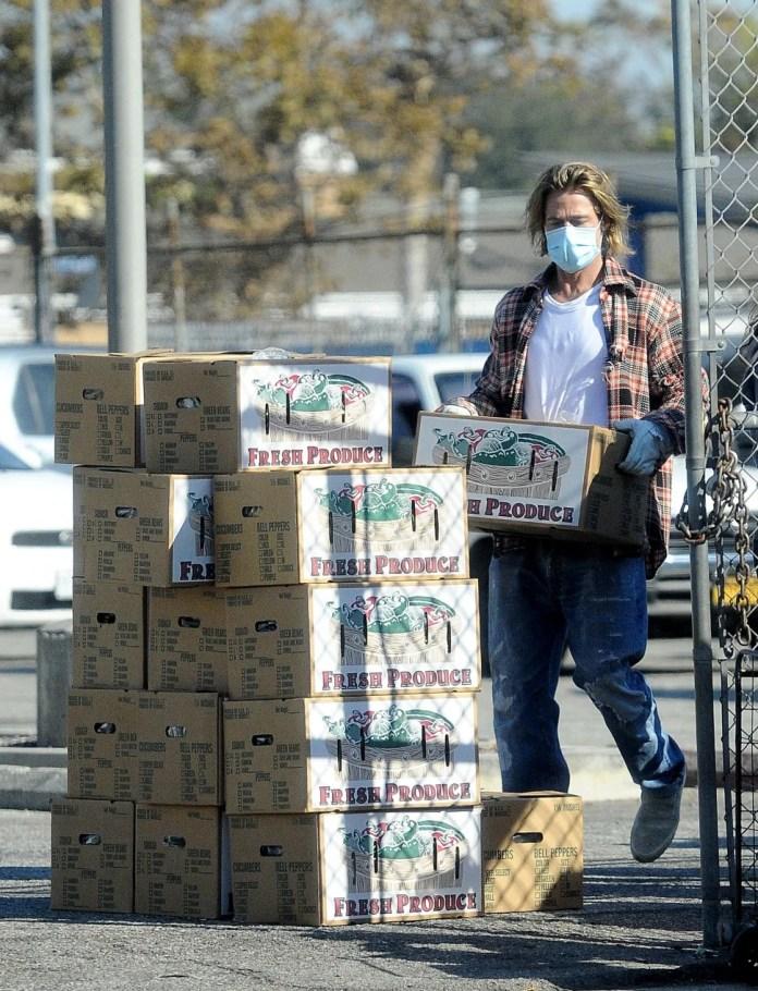 Brad Pitt como voluntario