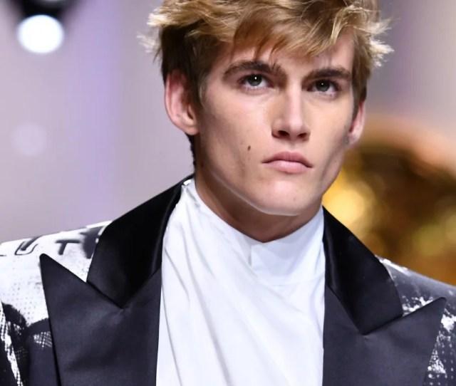 Proud Mom Cindy Crawford Applauds Son Presley Gerber At Paris Fashion Week