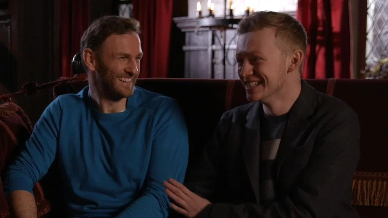 EXCLUSIVE Outlander Stars Steven Cree and John Bell Spill on Their New FatherSon Dynamic in