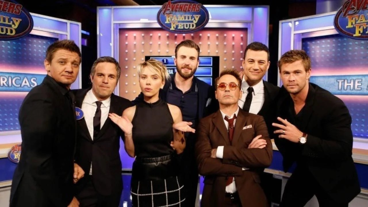 Marvels Avengers Age Of Ultron Cast Plays Family Feud