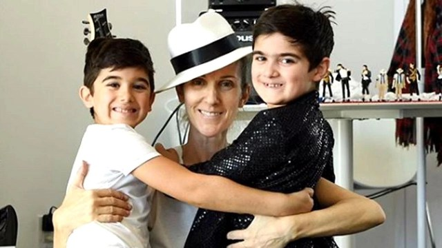 Celine Dion Shares Rare Photos of Twin Sons' Michael ...
