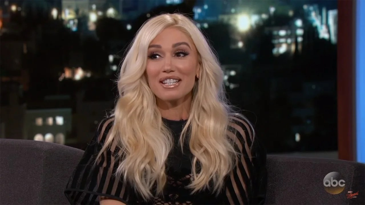 Gwen Stefani Says One of Blake Sheltons ExGirlfriends Had Her Face Plastered Over Her Whole