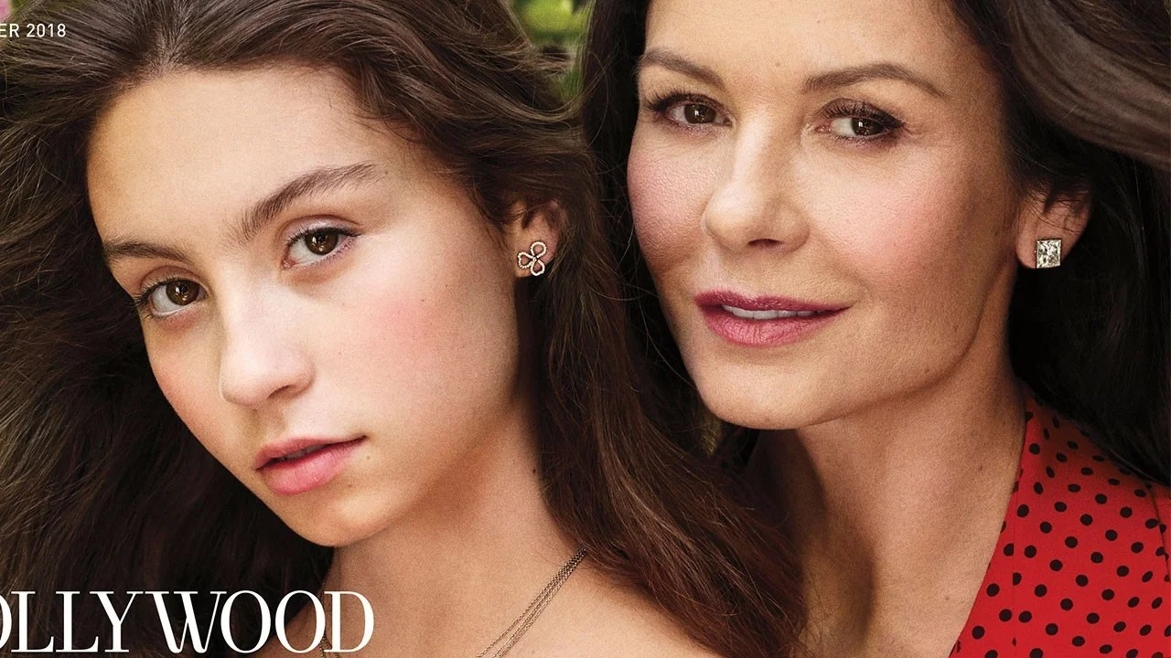 Catherine ZetaJones Daughter Carys Poses With Lookalike