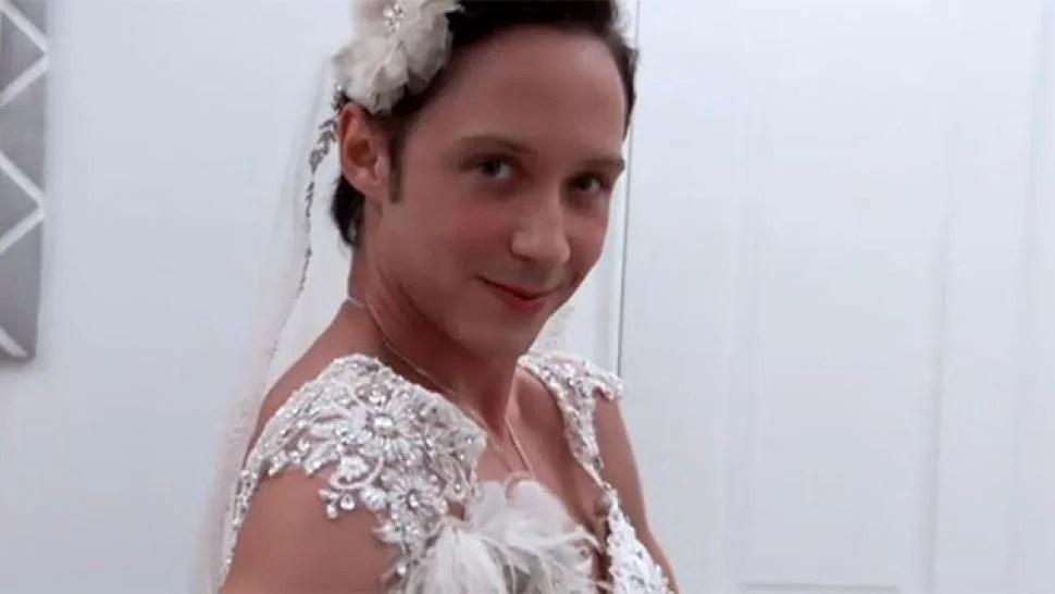 Johnny Weirs Bridal Blitz Entertainment Tonight