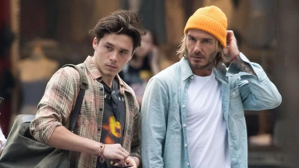 David Beckham Is a Total Doting Dad Dropping Son Brooklyn