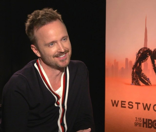Westworld Aaron Paul On That Cage Line That Has Fans Drawing