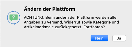 Ändern der Plattform