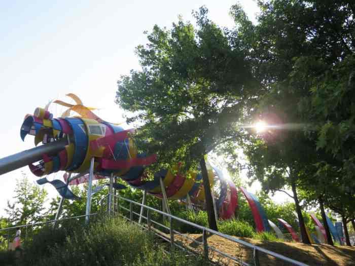 Parc de la Villette, le jardin du dragon, Paris 2015 ©Etpourtantelletourne.fr