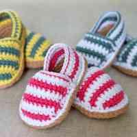 Espadrilles en crochet pour bébé