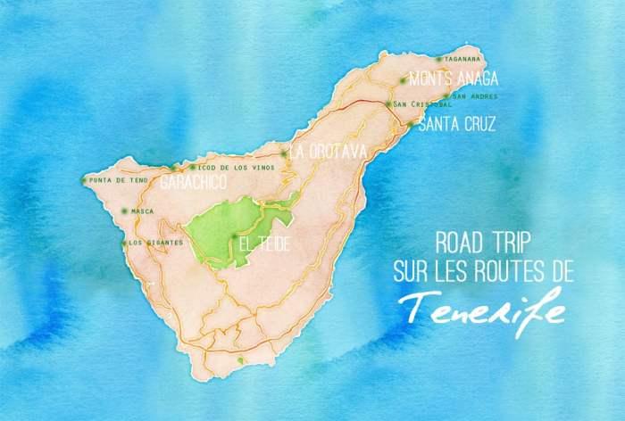 Tenerife itinéraire 2017 ©Etpourtantelletourne.fr