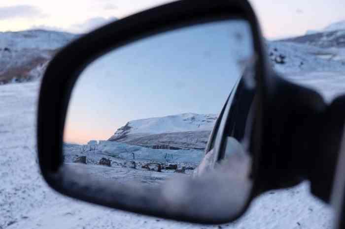 Islande en hiver le glacier Svinafellsjökull ©Etpourtantelletourne.fr
