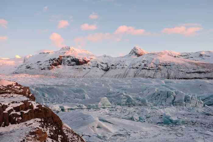Islande en hiver le glacier Svinafellsjökull Game of Thrones ©Etpourtantelletourne.fr