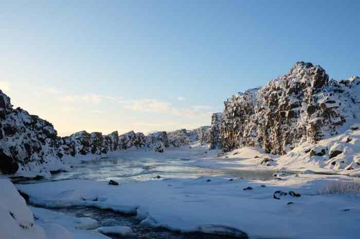 Islande en hiver le parc de Thingvellir dans le Cercle d'or ©Etpourtantelletourne.fr