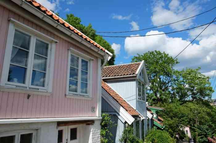 Telthusbakken : de jolies maisons scandinaves en bois à Oslo ©Etpourtantelletourne.fr
