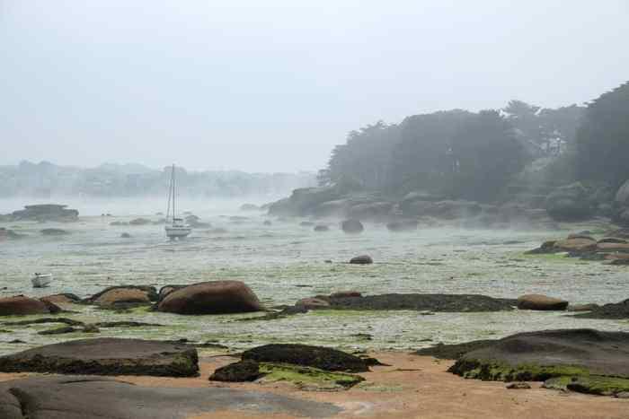 Côte de Granit Rose brume de mer Bretagne ©Etpourtantelletourne.fr