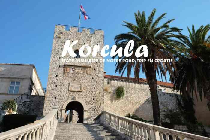 Visite de la vieille ville de Korcula en famille ©Etpourtantelletourne.fr