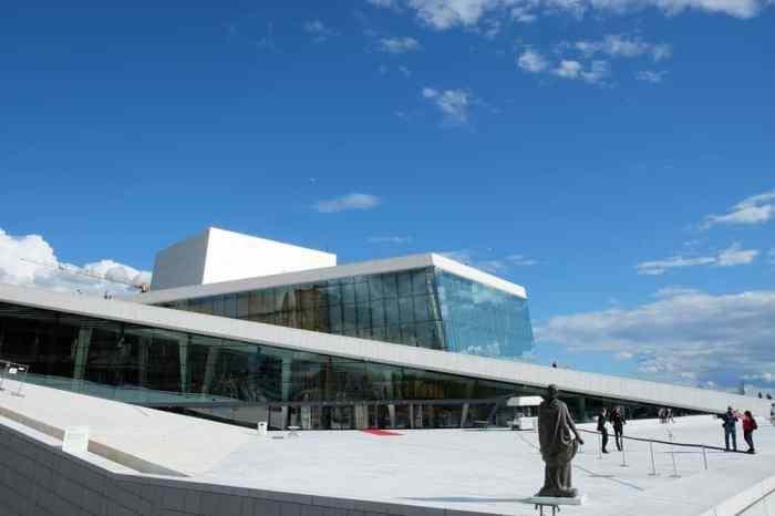 Vue panoramique depuis le toit de l'opéra d'Oslo ©Etpourtantelletourne.fr