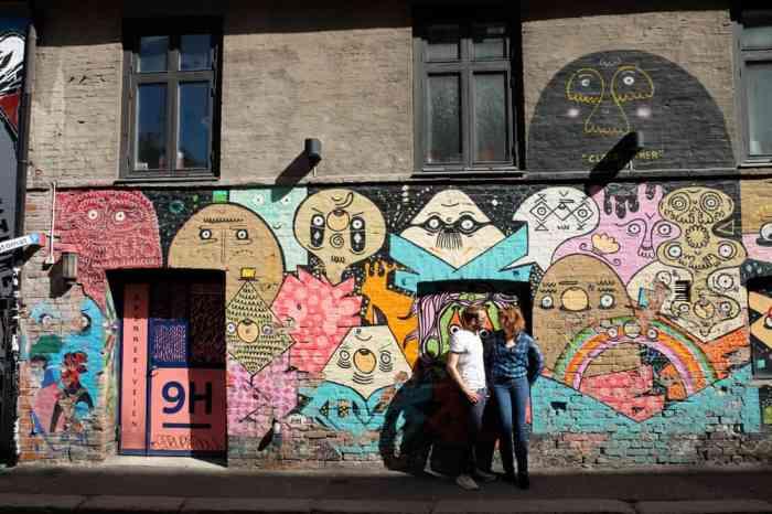 Street art dans le quartier de Grünerløkka à Oslo ©Etpourtantelletourne.fr