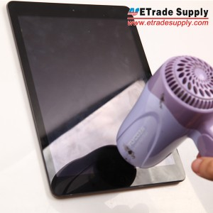 Use hair dryer to warm the iPad Air digitizer