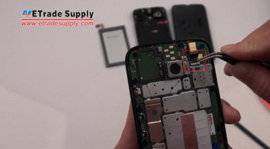 remove Moto G front-facing camera