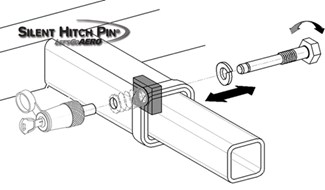 XL Anti-Rattle Trailer Hitch Receiver Lock for 2-1/2