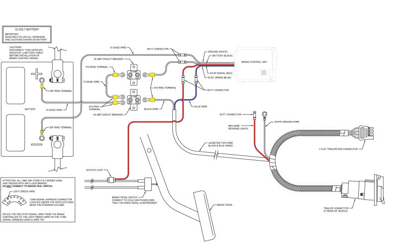 7 way rv flat blade wiring diagram polaris warn winch curt universal installation kit for trailer brake controller - 7-way 10 gauge ...