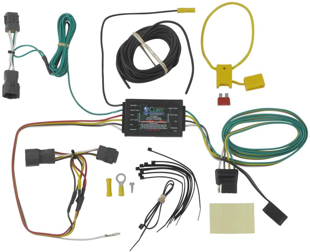 hight resolution of custom fit vehicle wiring for 2012 hyundai tucson curt 56101 2015 hyundai tucson trailer wiring harness
