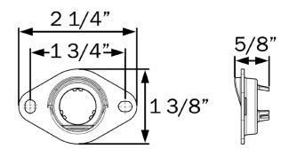 Ear Mount Bracket for Optronics LPL12CB Trailer License