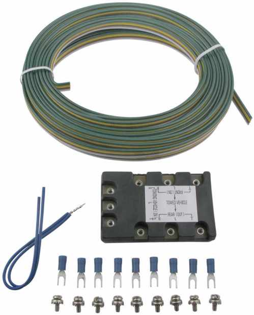 small resolution of blue ox tail light wiring kit with block diode blue ox tow bar wiring