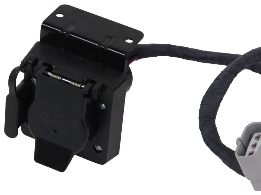 Wiring Mounting Bracket Is Relocated When Installing Trailer Hitch