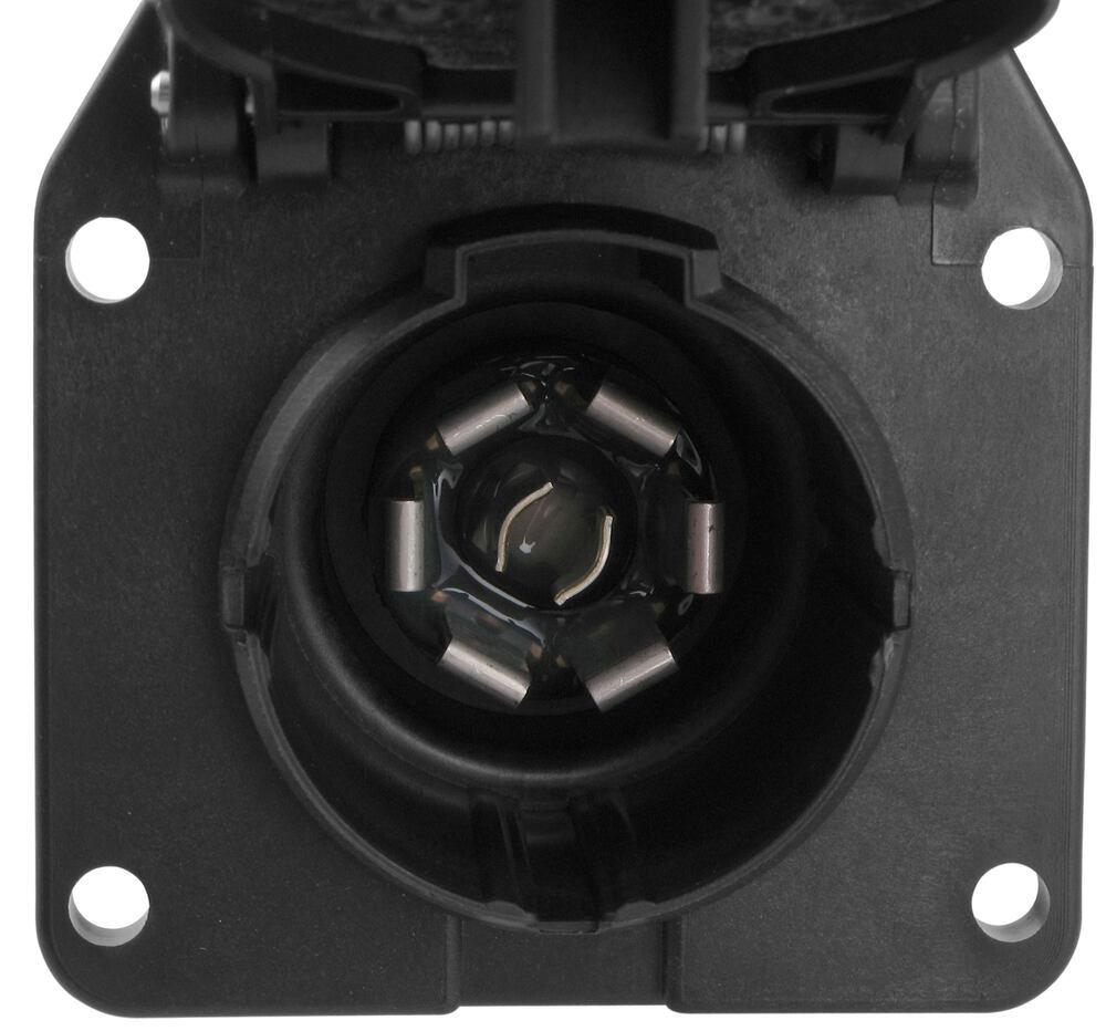 medium resolution of pollak 7 pole rv style trailer connector socket w wiring trailer adaptor wiring harness connectors trailer