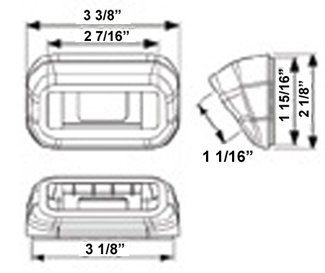Mounting Grommet w/ Built-in Wedge for A91 or AL91 Series