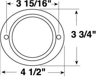 Amber Aluminum Oval Reflector Peterson Trailer Lights B472A