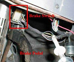 5 pin trailer plug wiring diagram australia fleetwood travel brake controller installation starting from scratch etrailer com switch wires located above the pedal