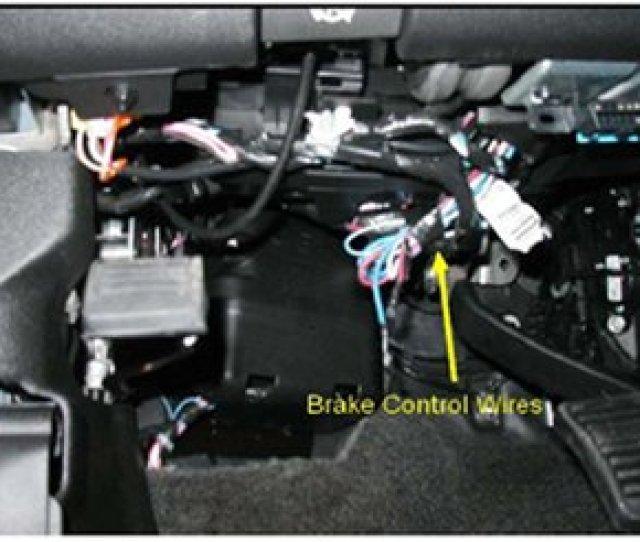 Installation On A  Chevy Silverado Brake Control Wires Image